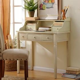 Harrison Ivory 5-Drawer Study Desk