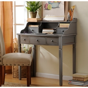 Harrison Slate 5-Drawer Study Desk