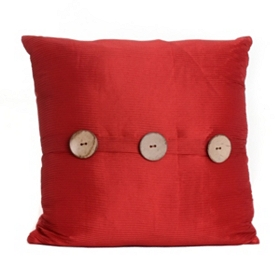 Red Porter Button Pillow, 20 in.