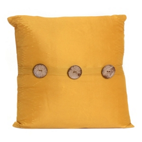 Yellow Porter Button Pillow, 20 in.
