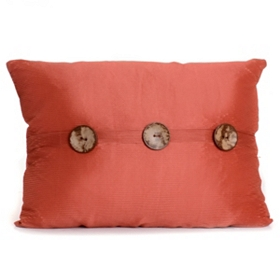 Spice Porter Button Oblong Pillow