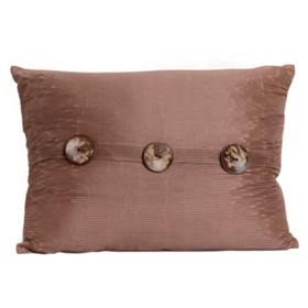 Tan Porter Button Oblong Pillow