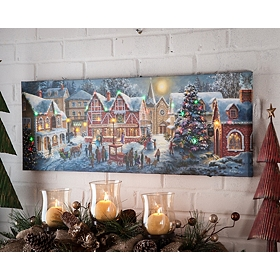 Christmas Night LED Canvas Art Print