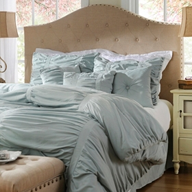 Ruched Sea Mist 7-pc. Queen Comforter Set