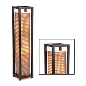 Cane Square Floor Lamp