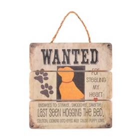 Wanted Puppy Love Wall Sign