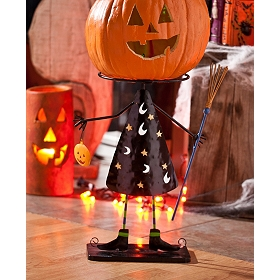Witch Pumpkin Head Stand