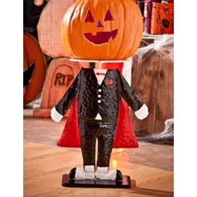 Dracula Pumpkin Head Stand