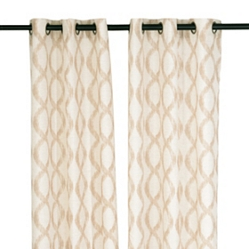 Natural Ogee Curtain Panel, Set of 2