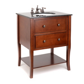 Danville Mahogany Vanity Sink, 28 in.