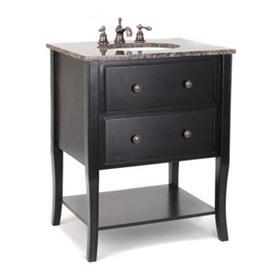 Danville Black Vanity Sink, 28 in.
