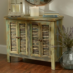 Coastal Shutter Wood Cabinet