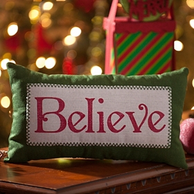 Believe Accent Pillow
