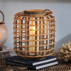 Large Bamboo & Rope Lantern