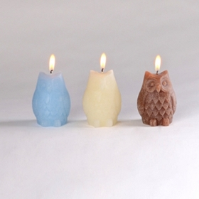 Owl Candles, Set of 3