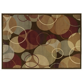 Campbell Overlapping Circles Area Rug, 8x10