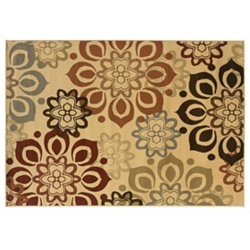 Campbell Beige Flowers Area Rug, 8x10