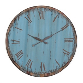 Distressed Blue Wall Clock