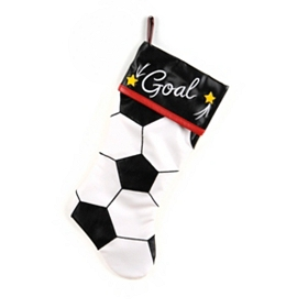 Goal Soccer Christmas Stocking