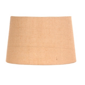 Natural Burlap Hardback Shade