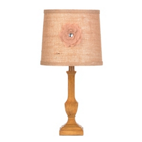 Burlap Flower Table Lamp