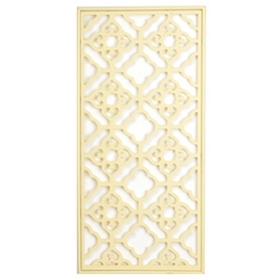 Cream Geo Rectangle Wall Plaque