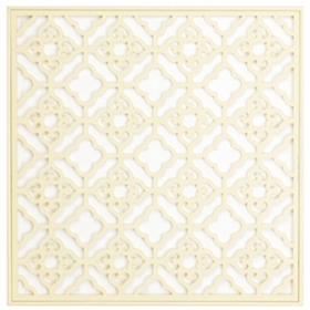 Cream Geo Square Wall Plaque