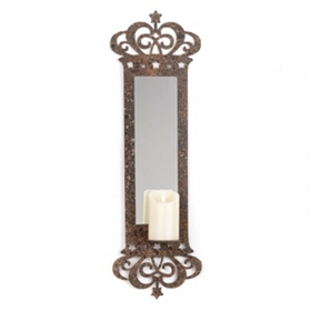 Mirrored Candle Sconce
