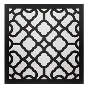 Black Geo Wall Plaque