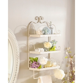 Scrolled 3-Tiered Wall Shelf