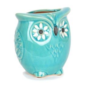 Capri Blue Owl Vase