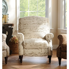 Ivory Script Recliner