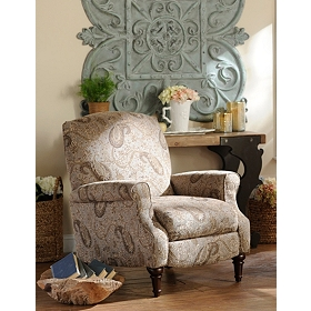Blue Paisley Recliner