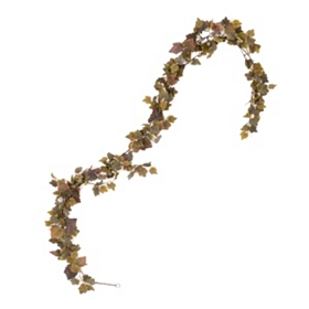 Green & Burgundy Grape Leaf Garland