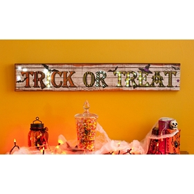 Trick or Treat LED Canvas Art