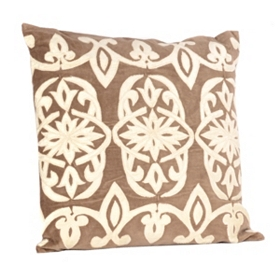 Tan Applique Accent Pillow