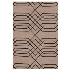 Beige Hand-Woven Accent Rug