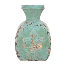 Antique Blue Fleur-de-Lis Vase
