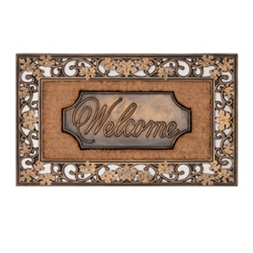 Bronze Leaf Coir Welcome Doormat