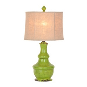 Lime Green Rustic Table Lamp