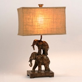 Stacked Elephant Table Lamp
