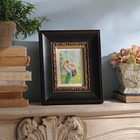 Bronze & Gold Wood Picture Frame, 5x7
