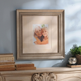 Antique Silver Wood Picture Frame, 11x14