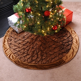 Bronze Pin Tuck Tree Skirt