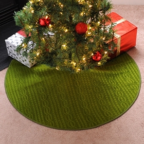 Green Knit Tree Skirt