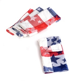 Americana Star & Check Napkins, Set of 4