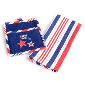 Happy 4th Potholder & Dish Towel Set