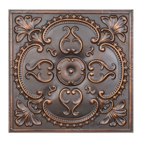 Bronze Medallion Tile Wall Plaque