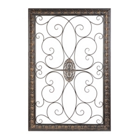 Scroll Medallion Embossed Wall Plaque