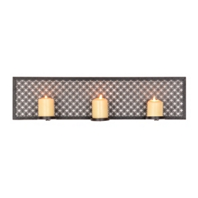Pierced Geo 3-Candle Sconce